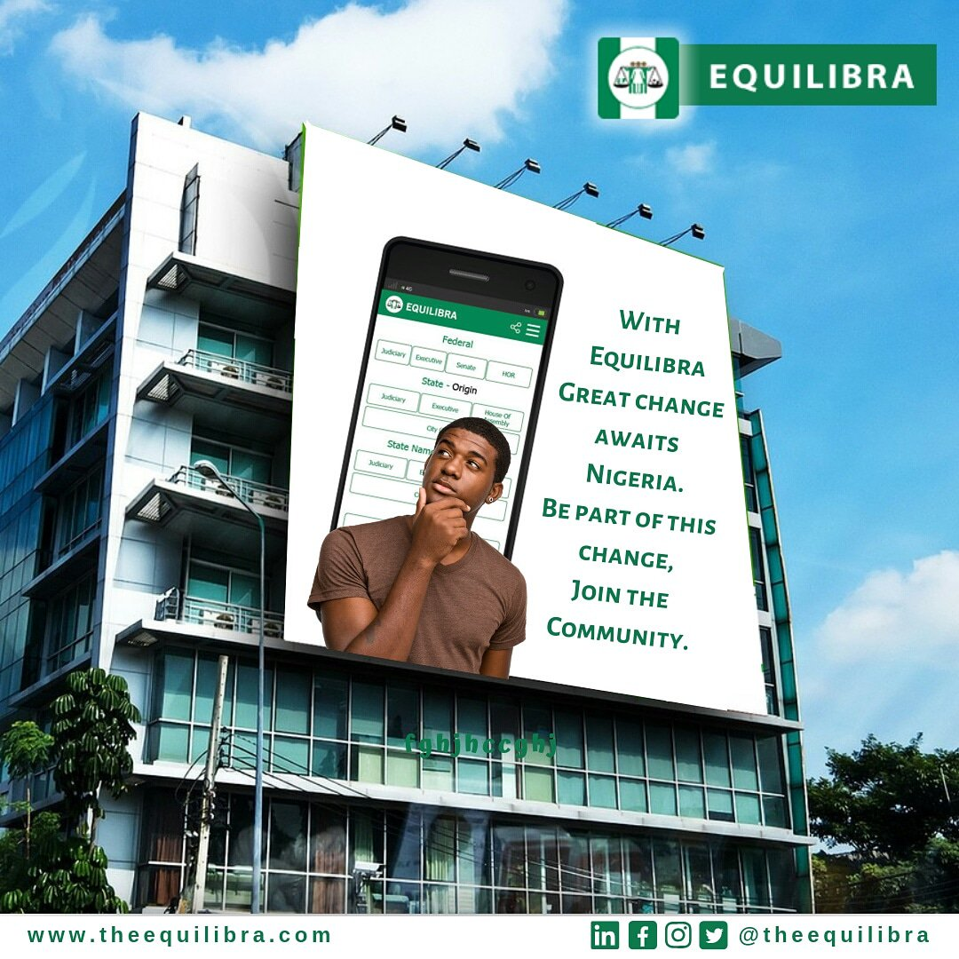Nigeria will be a better place if we  as citizens join hands together to build a great Nation.  Be part of something great, Join the Equilibra community today!  #nigerian #nigeria #lagos #naija #abuja #nollywood #pcakubueze #ammgospel #pcakubuezequotes #nigerianwedding #africanpic.twitter.com/0N4TJA5YkC