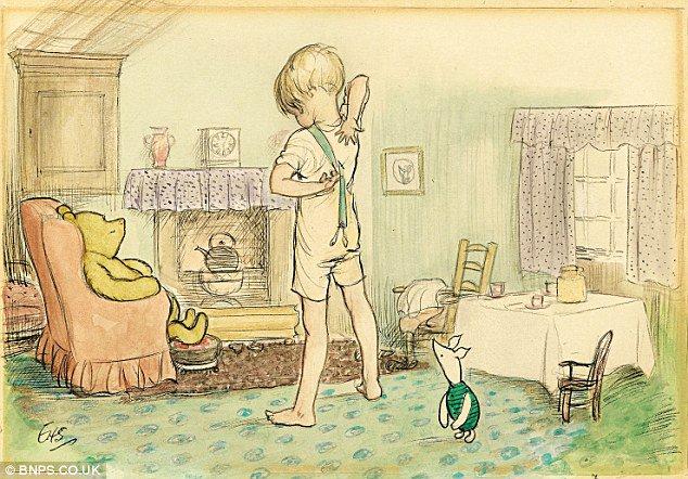 Today&#39;s #CelebratingIllustratorsAndBooks is by E.F. Shepard for WINNIE THE POOH (1929).#EFShepard Magical, sweet and endearing.  #Illustration #PictureBooks #childrensbooks #vintagekiitart #vintage #kidlitart <br>http://pic.twitter.com/XvAZonDF1y