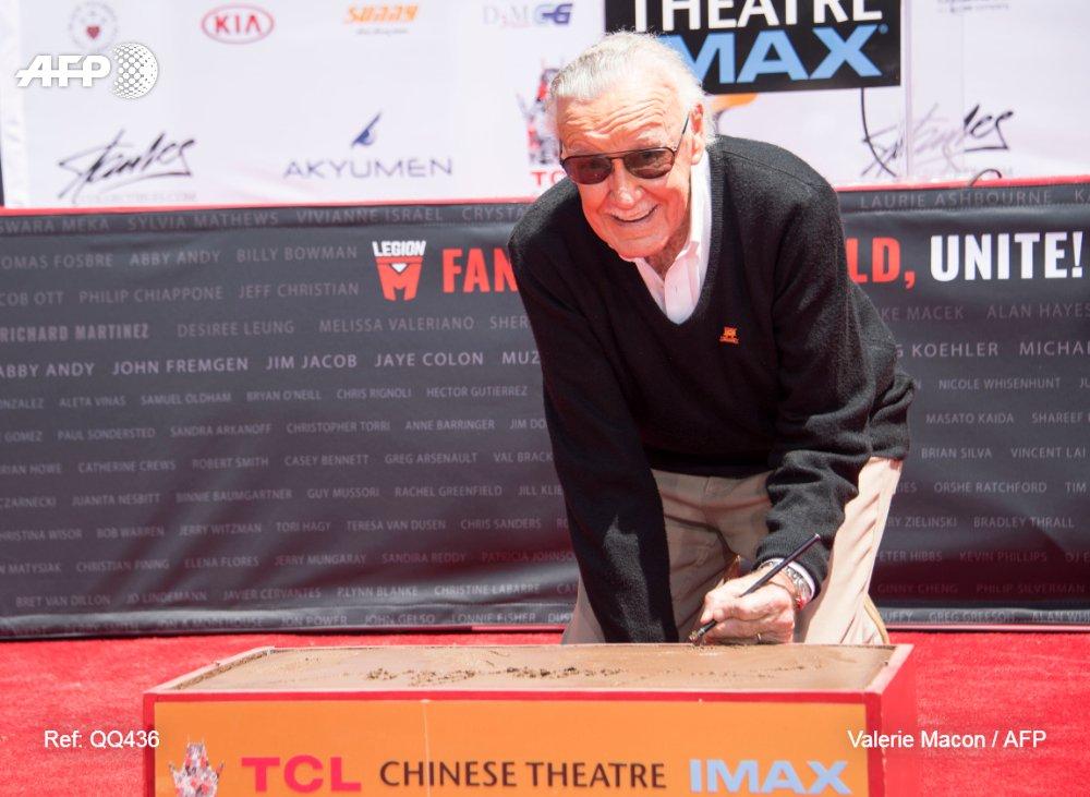 La légende de la bande dessinée américaine Stan Lee meurt à 95 ans (médias) #AFP