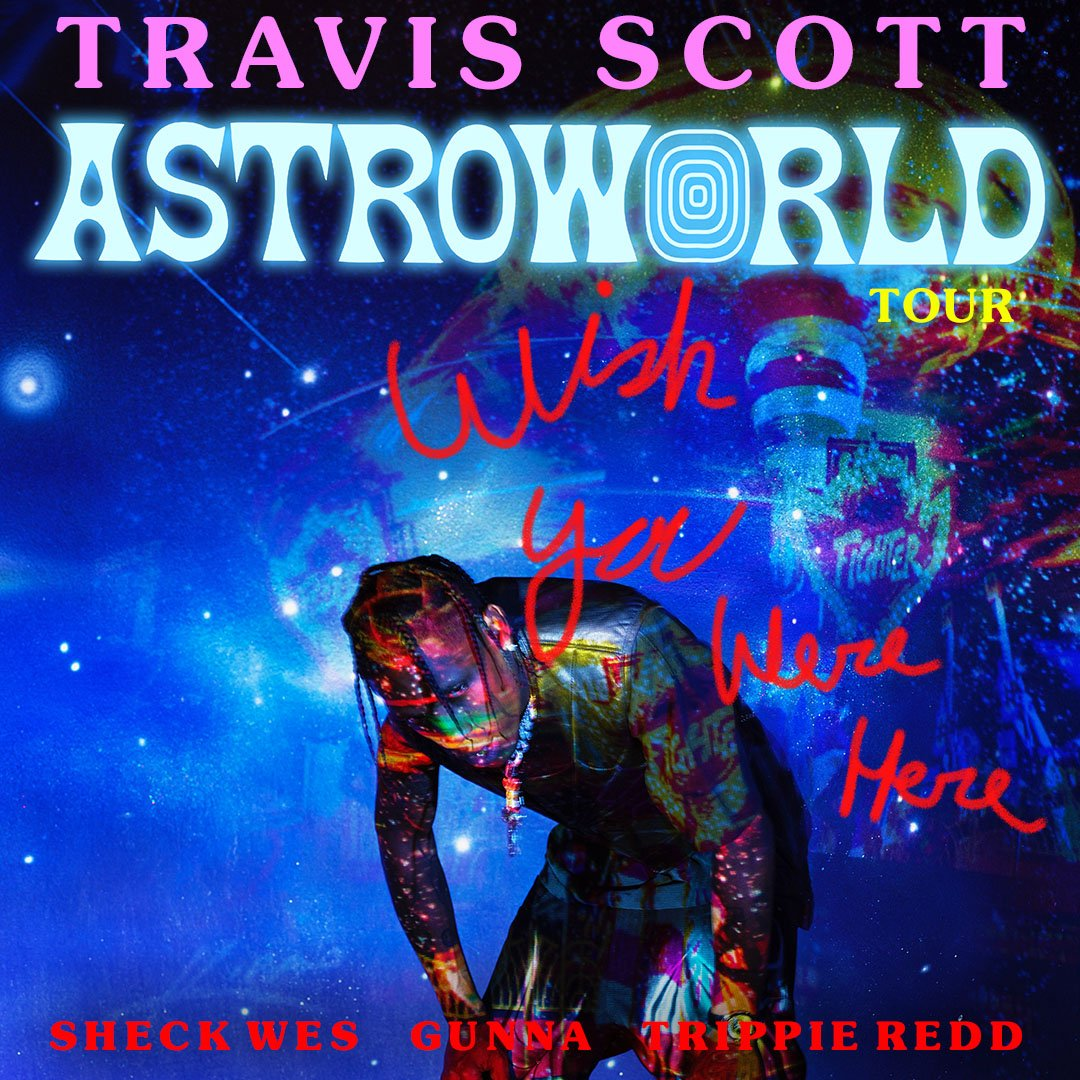 049f168f9614 ... upcoming shows in Hartford (Nov 30), Cleveland (Dec 4) and Milwaukee  (Dec 9) of Travis Scott's ASTROWORLD: WISH YOU WERE HERE tour are being  postponed ...