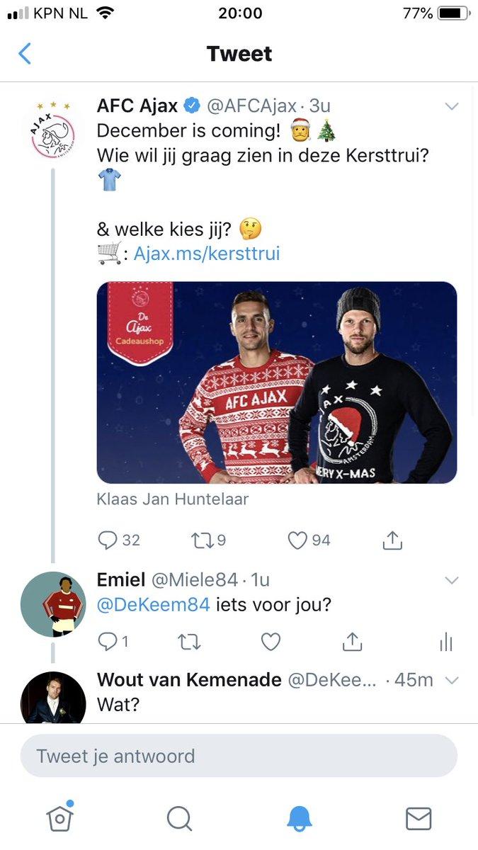 Kersttrui Ajax.Afc Ajax On Twitter December Is Coming Wie Wil Jij Graag