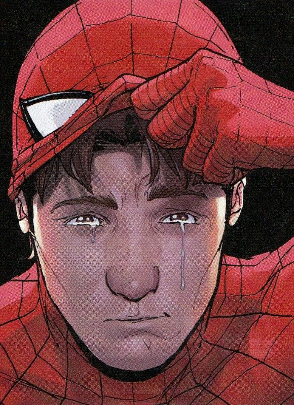 Spiderman llora la muerta de su padre, Stan Lee.