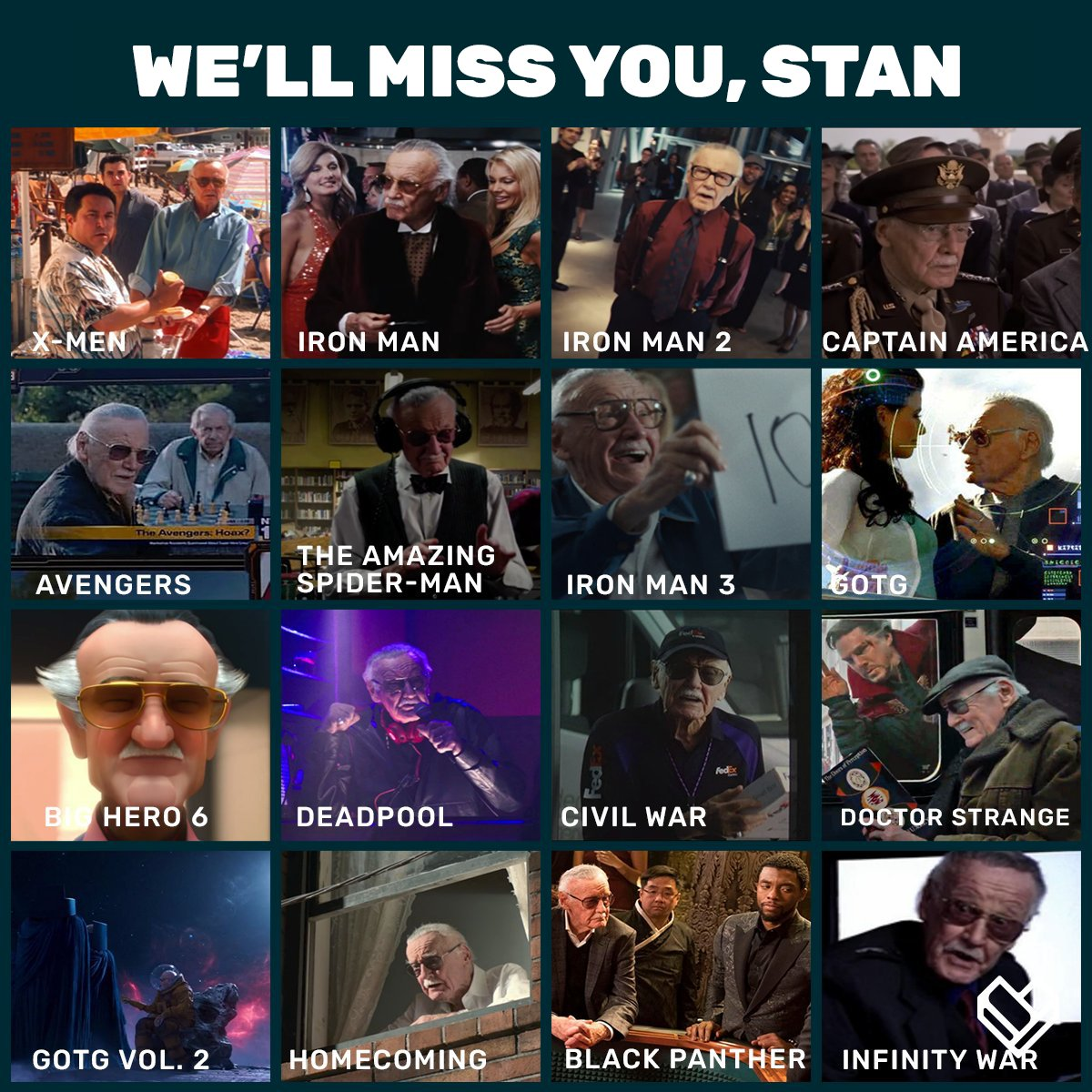 Thank you for the memories, Stan Lee ❤️