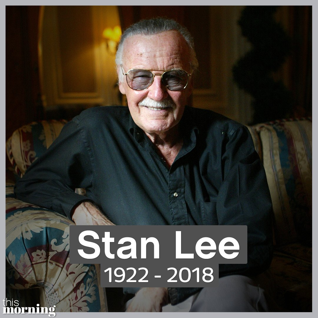 This Morning On Twitter Marvel Legend Stan Lee The Creator Of