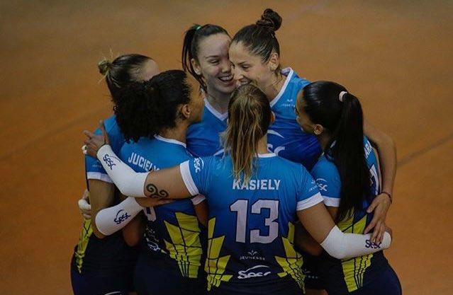 CAMPEONATO CARIOCA SESC/RIO CAMPEÃO!! 🏆🏐💙 Sesc/Rio vence Fluminense por 3 sets a 2 (25/21, 23/25, 16/25, 25/19 e 15/12). E é campeão carioca. Parabéns meninas!!! #VoleiNoSporTV Photo