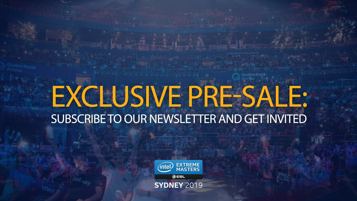Alrighty mates, first chance to get your tickets to #IEM Sydney is coming up this Thursday on our presale - sign up here: esl.gg/sydney2019