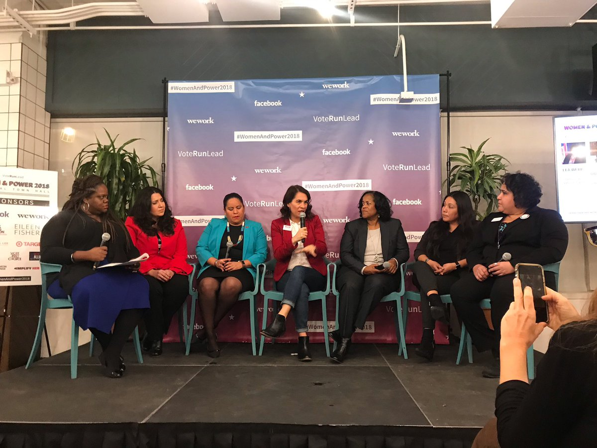 Just a few more from the @VoteRunLead #WomenandPower2018 National Town Hall! WHAT an amazing panel  fun fact...the last time I saw @PiperPerabo was in the back of a paddy wagon during the #StopKavanaugh protests! Looks like women came out on top!  <br>http://pic.twitter.com/UAMHgax8Sk