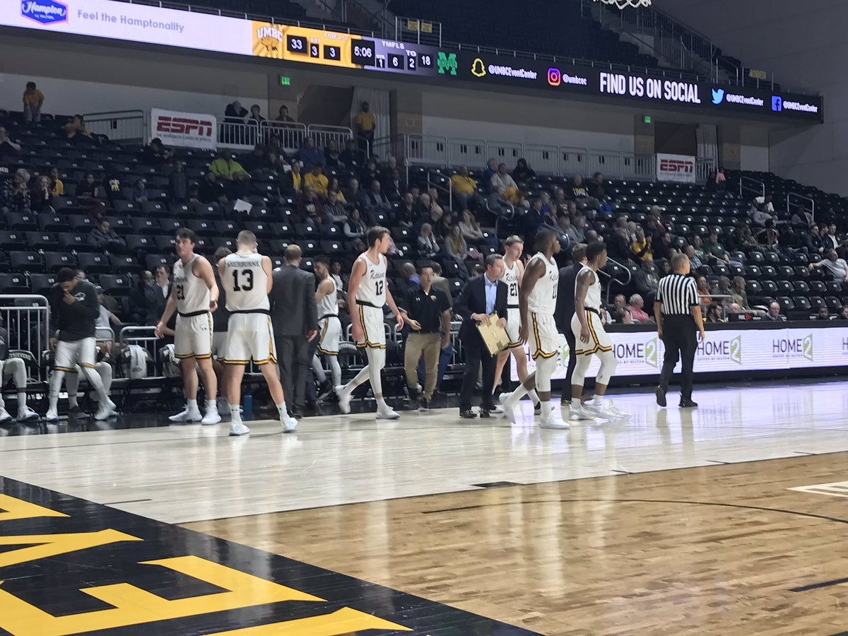 test Twitter Media - The offense is on fire right now, as they take a 15 point lead on a Brandon Horvath 3-point shot. UMBC 33 - 18 Manhattan with 4:50 left. https://t.co/ytmfnLR6au