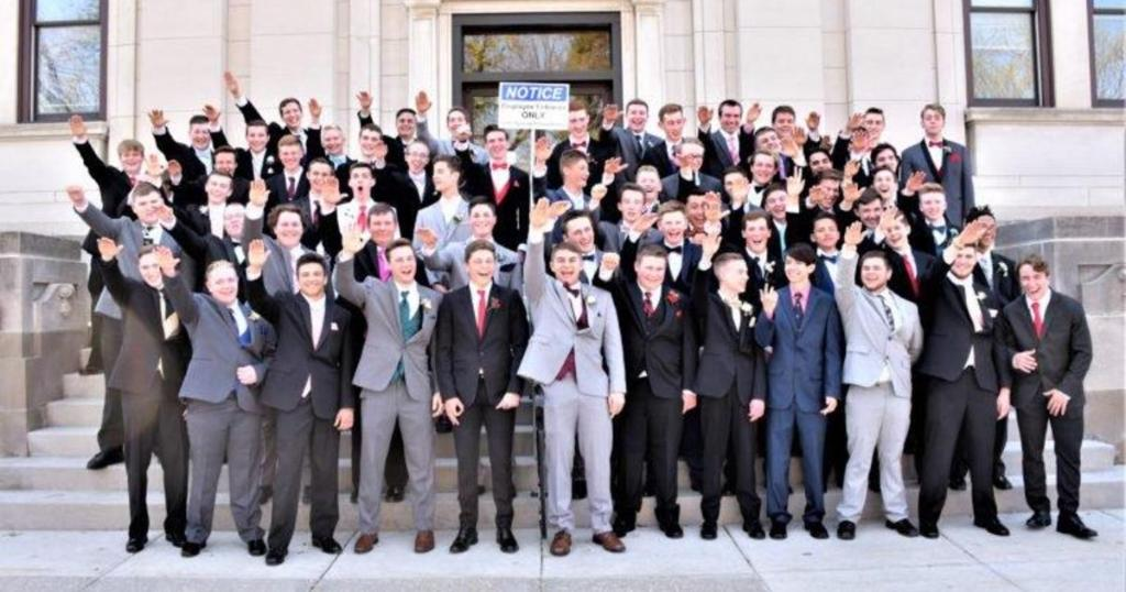 Dozens of Wisconsin high school students appear to make Nazi salute in prom photo https://t.co/MuRDCgNiL0