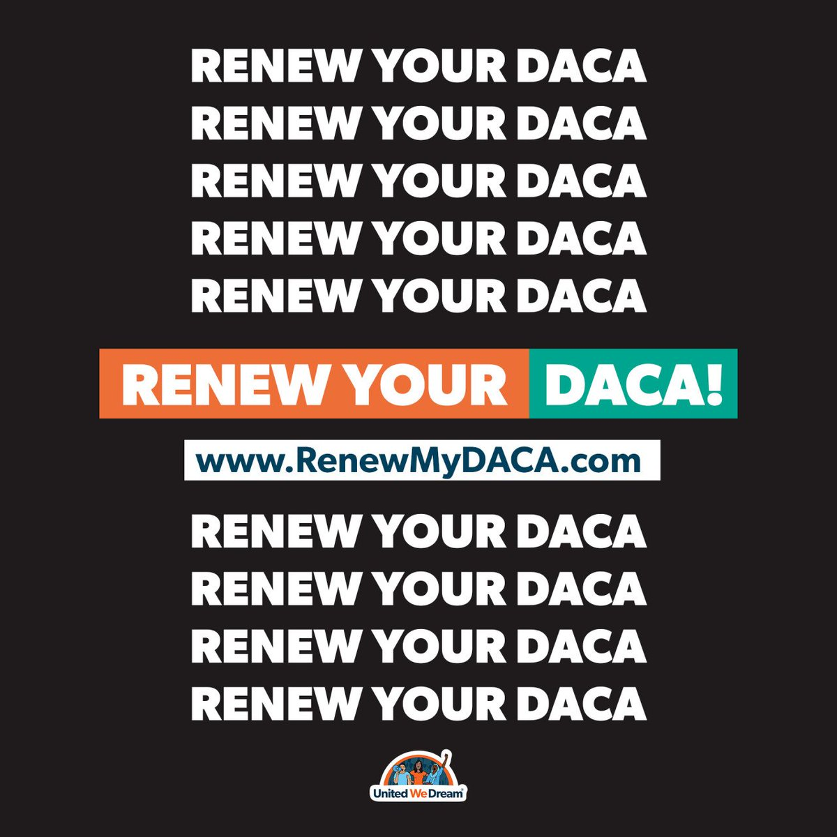 Despite Trump's attacks, the #DACA program is still alive for those who can renew! #HereToStay Find out how you can renew TODAY: RenewMyDACA.com