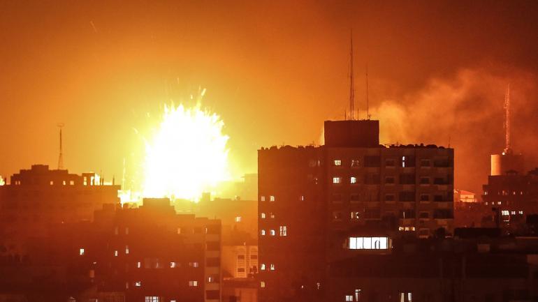 Ночные бомбардировки Газы Израилем и ответка от ХАМАС