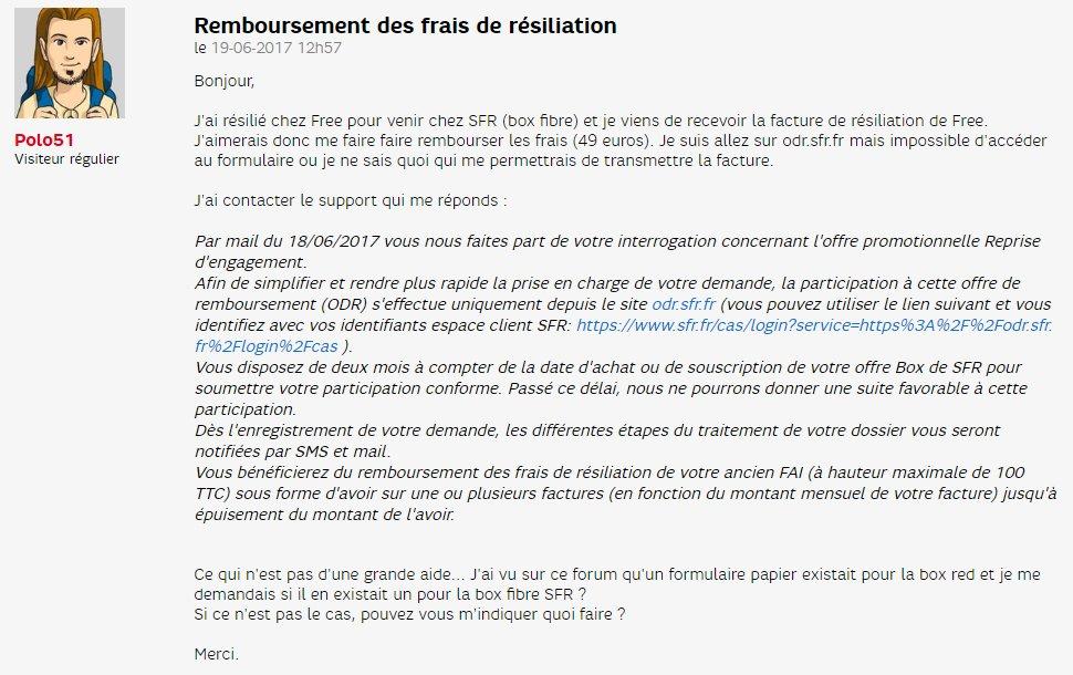 Sylvain Ernault On Twitter Sfr Me Doit 49 De Remboursement Des