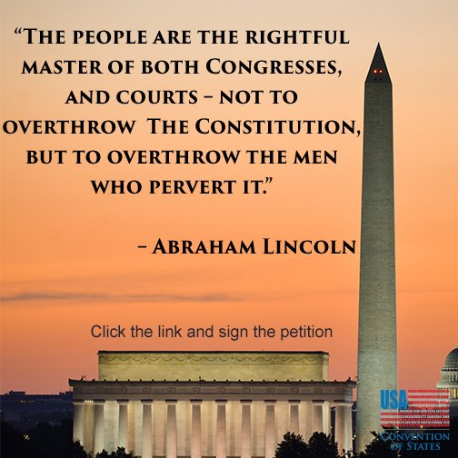 Let us get back to the Constitution with a #ConventionOfStates   Let us use the tools within it to force #Congress to stop perverting  it's clear meaning & overthrow their attempts to change/ignore it  #ArticleV   #COSProject #WeThePeople   #PJNET