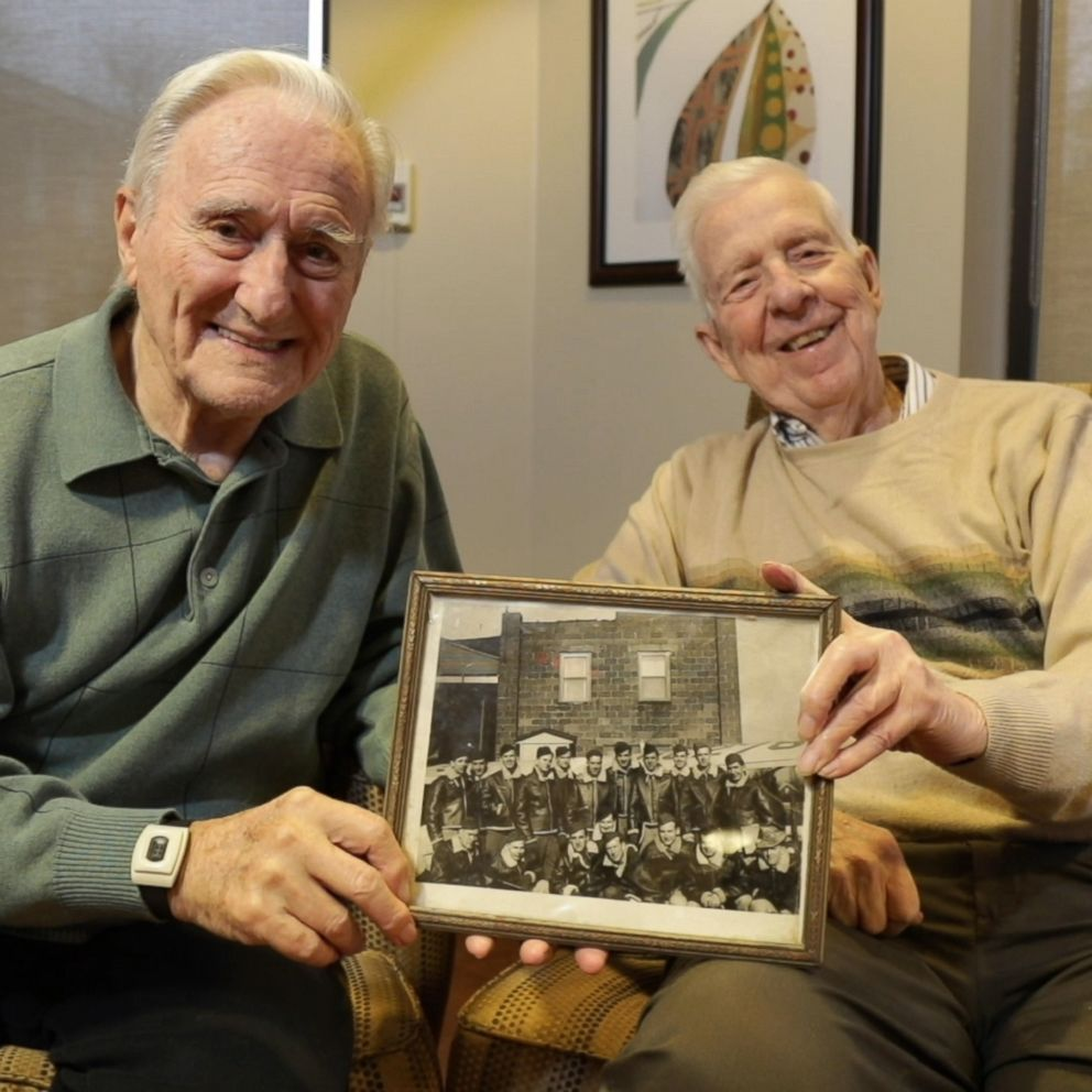 Two WWII veterans who are both from Pittsburgh, born days apart and served side-by-side in the U.S. Air Force, reconnected this year after decades apart when they found out they were living as neighbors in a senior community center. abcn.ws/2ODuJQM