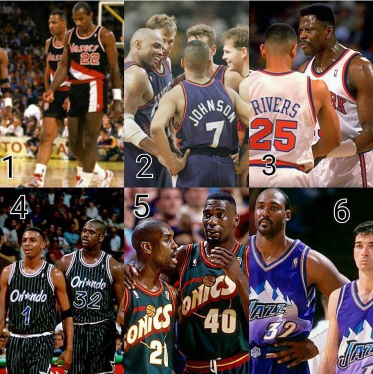 Which one of these teams from the 90's was your favorite? #NBA #90s #Snglv