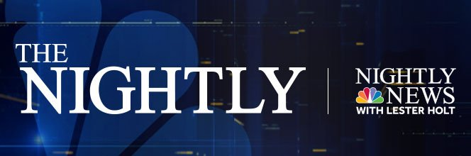 """THE NIGHTLY: Our new daily newsletter that gives viewers an inside look at what @NBCNightlyNews producers are talking about for the evening's broadcast.  To sign up, follow this link, enter your email and select """"NBC Nightly News"""" --> https://t.co/Zd5kOUecur"""