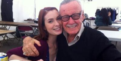 Fans keep linking pictures of me and Stan and I can't stop crying. He was so kind to everyone, especially young artists. He made it seem like your dreams were possible even if you were a misfit. ESPECIALLY if you were a misfit. #RIPStan you will be so so missed.