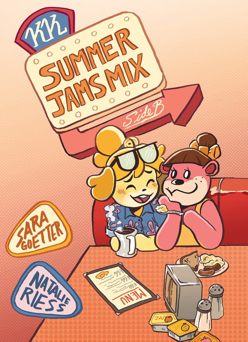 Part Two of our Animal Crossing fancomic KK SUMMER JAMS: SIDE B is HERE!!!! Isabelle and Lottie go to a DINER and get into a CAR CHASE!!!! 22 pages, b+w, PG-13 for one swear, free/PWYW pdf here:  https:// hellyellcomics.itch.io/kk-summer-jams -mix-side-b &nbsp; … <br>http://pic.twitter.com/piAuyJtvDK
