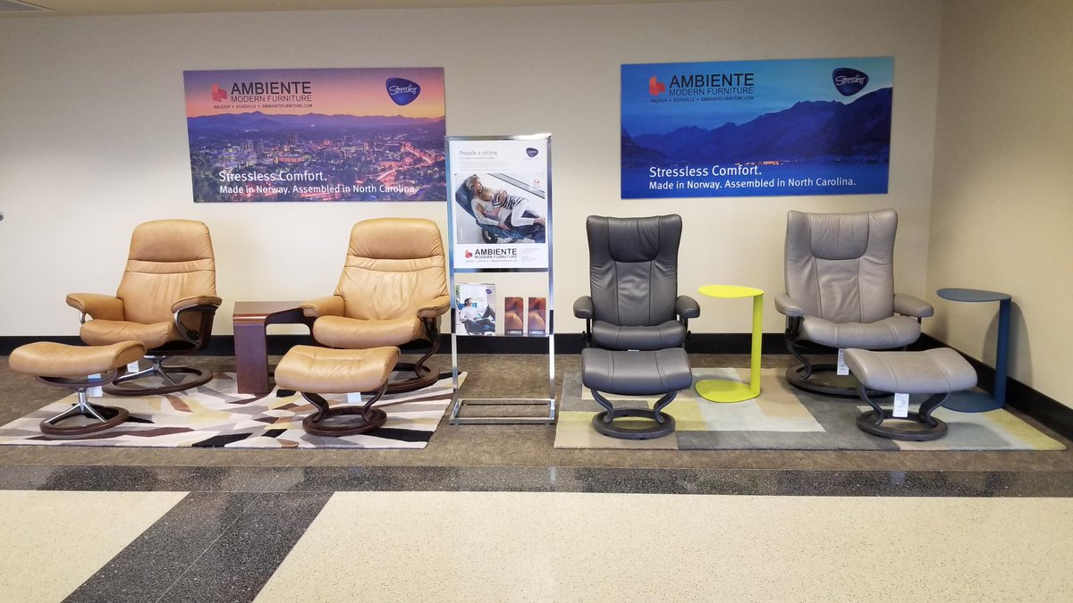 Thanks To Ambiente Modern Furniture Traveling Has Gone From Stressful Stressless Next Time You Re In The Asheville Regional Airport Sit Back