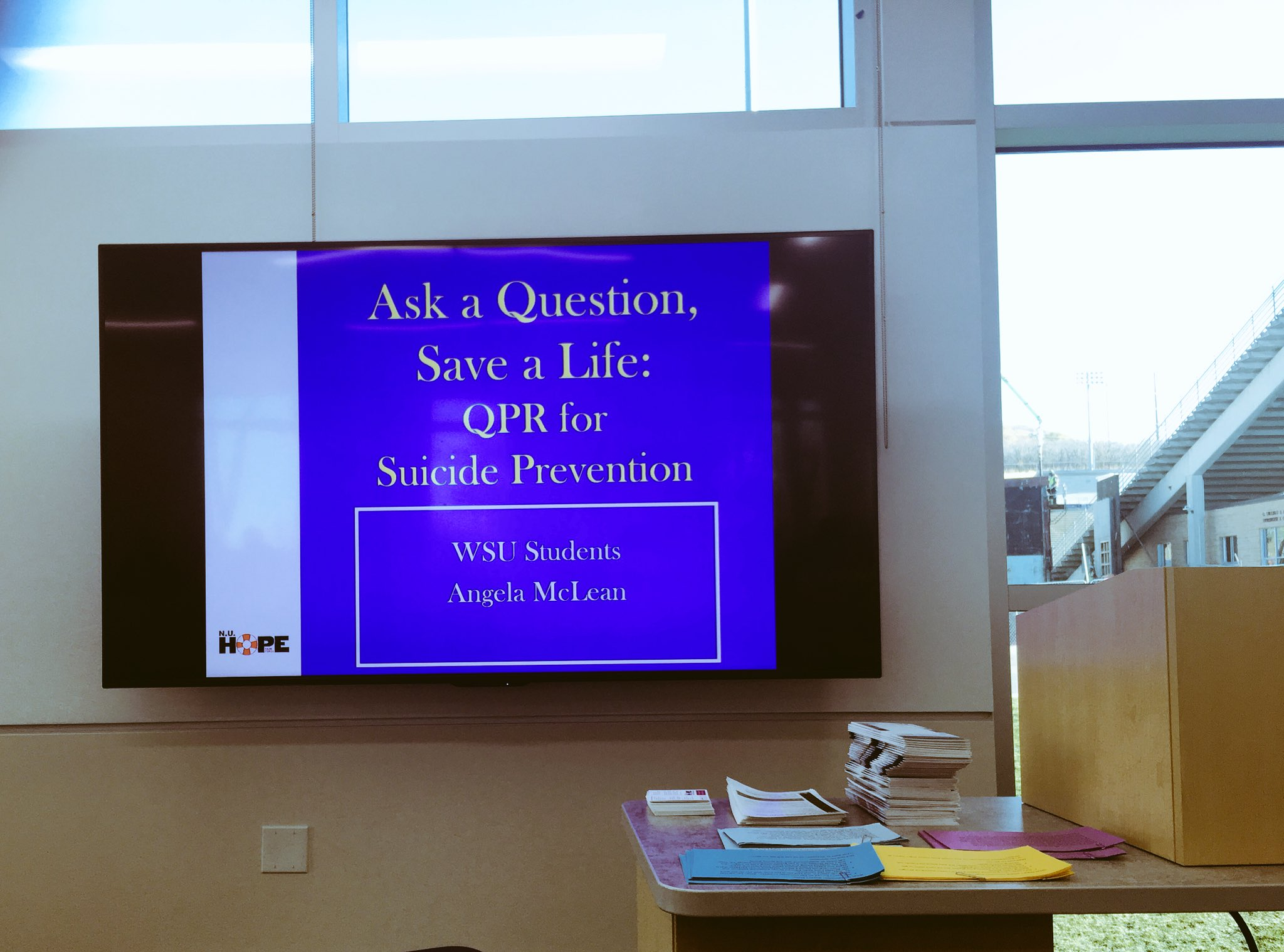 #Suicide is a big deal these days.  #QPR for #suicide_prevention by: Angel McLean.  #WSU #HAS https://t.co/XYoXAvSQwA