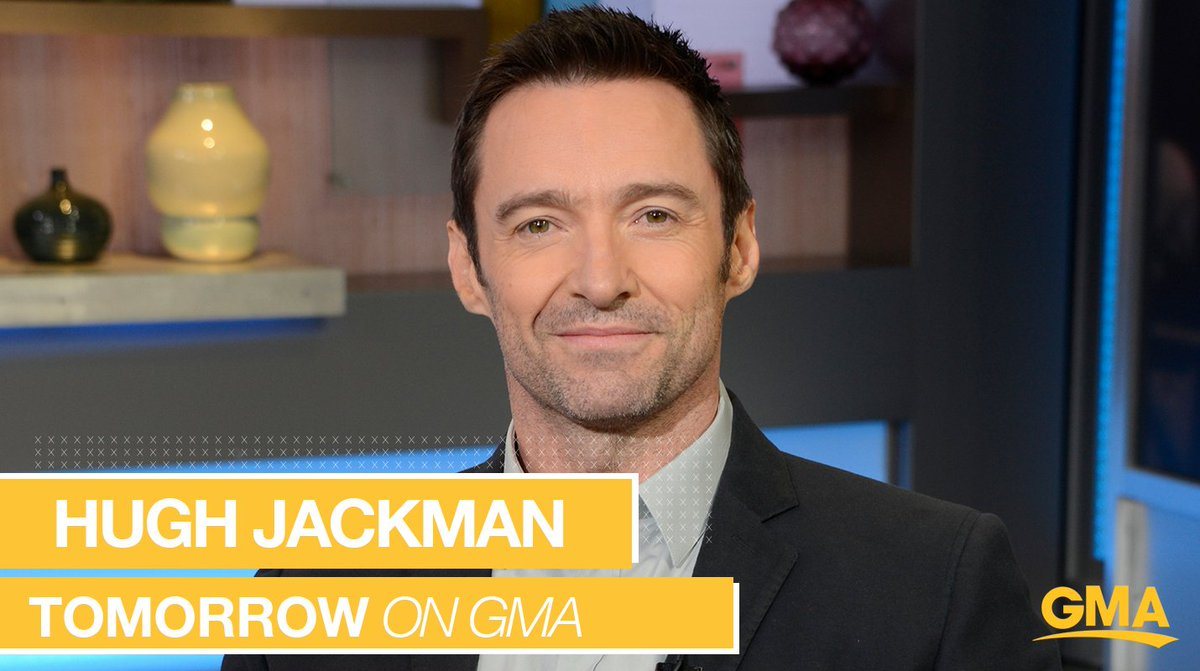 TOMORROW ON @GMA: @RealHughJackman talks about his new film #TheFrontRunner LIVE in Times Square! gma.abc/2K1ffov