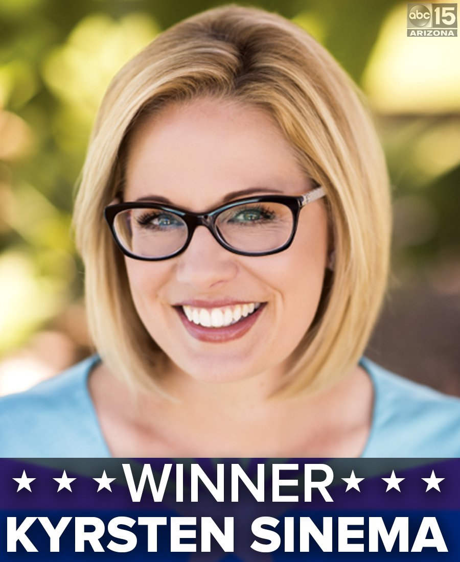 ABC15 Arizona's photo on Democrat Kyrsten Sinema