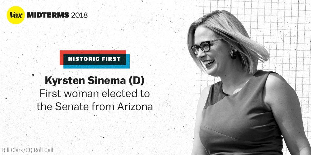 Vox's photo on Democrat Kyrsten Sinema