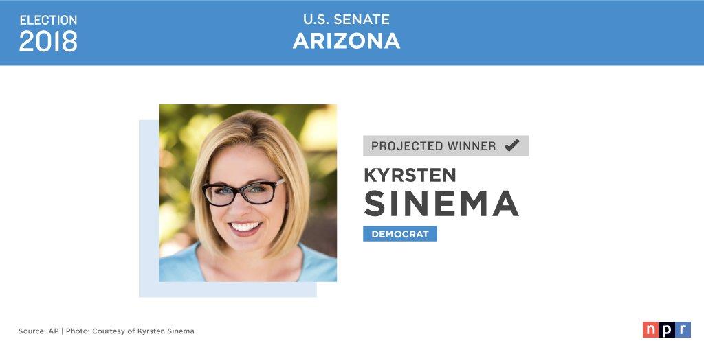 NPR Politics's photo on Democrat Kyrsten Sinema