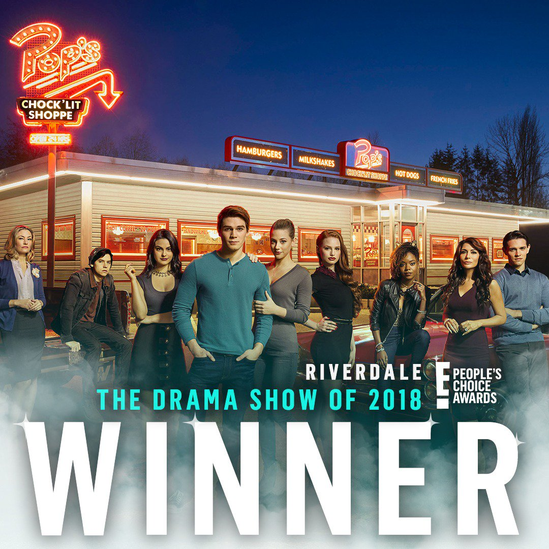 Congratulations @CW_Riverdale for winning The E! People's Choice Award for #TheDramaShow of 2018! #PCAs