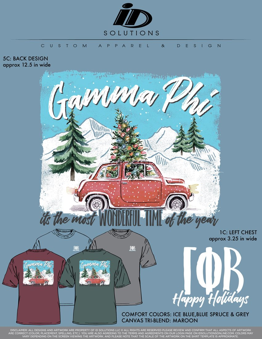happy snow day, here's Gphi's holiday shirts ❄️ closes the 20th at midnight! http://www.idsolutionsonline.com  GPBHOLIDAYS18