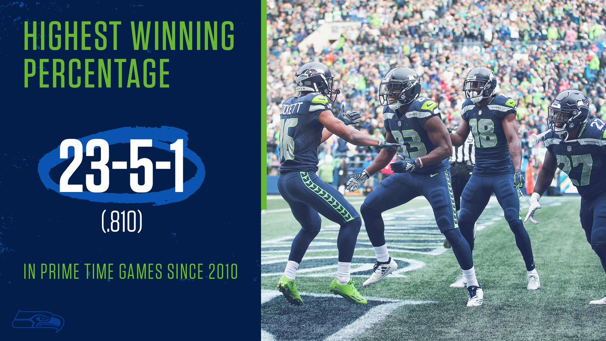 The @Seahawks are 7-1 on Thursday Night Football under Pete Carroll and are 14-2 at home in prime time games dating back to 2010. #GoHawks<br>http://pic.twitter.com/07VKafHyjn