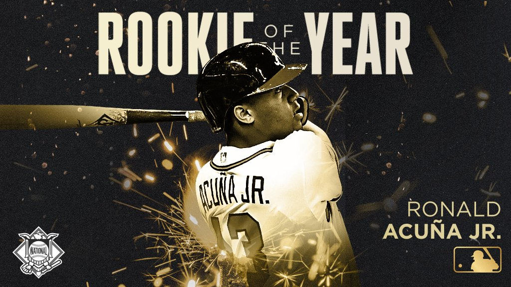 Ronnie ROY.  Your 2018 NL Rookie of the Year: @ronaldacunajr24.
