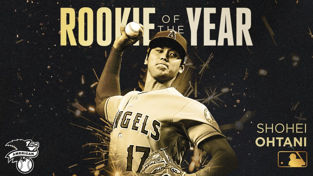 The hype was real.     Your 2018 American League Rookie of the Year: Shohei Ohtani. https://t.co/GBvlRVUzFD