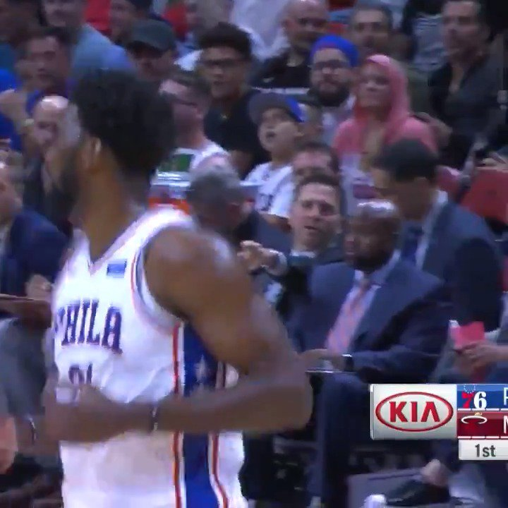 Joel Embiid scores 35 PTS & grabs 18 REBS to lift the @sixers in Miami! #HereTheyCome https://t.co/INVIMBxDR6