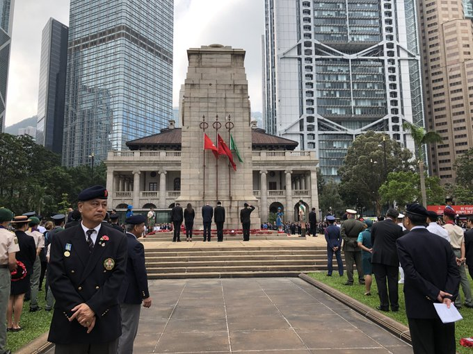 Pre 16 student leaders Brian So, Pearl Ng and Sophia Tavernard-Thomspon laid a wreath during the Remembrance Day ceremony on Sunday 11 November on behalf of WISl, paying respect to all those who lost their lives in line of duty. #wis_hk #RememberanceDay2018 Photo