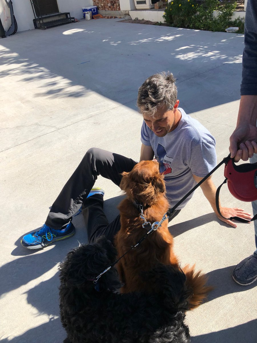 We walked by @BetoORourke s yesterday - he was shooting baskets.  He stopped to pet Roosticus,in the photo that would have turned the election, had it been taken earlier. Beto is genuine and personable. We chatted for about 15 minutes and yes I&#39;m way behind on Texas Trib  columns <br>http://pic.twitter.com/JO9kmAicWA