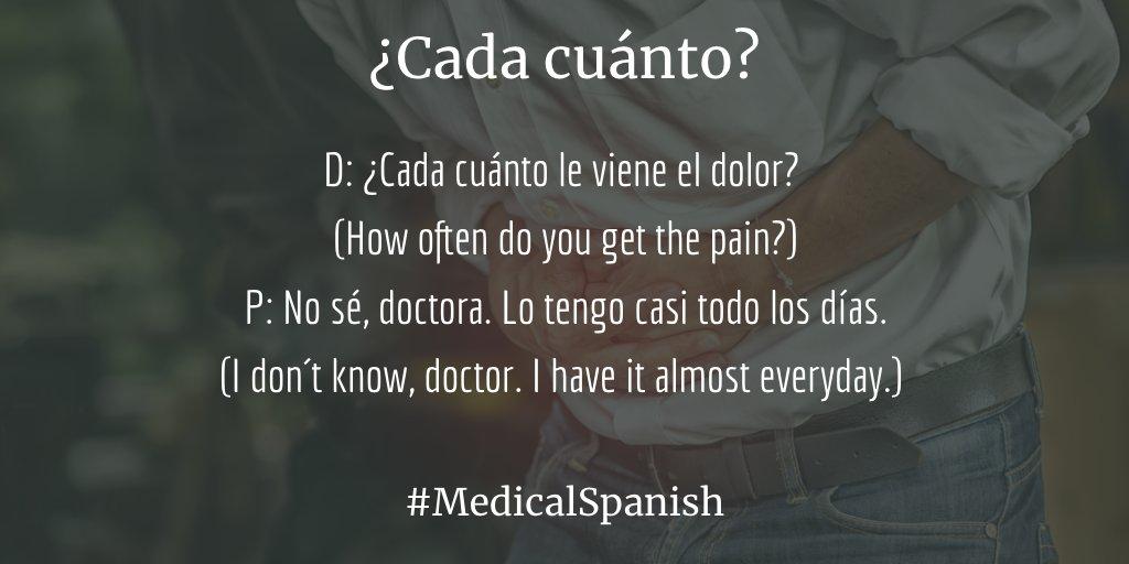 Medical Spanish on Twitter: