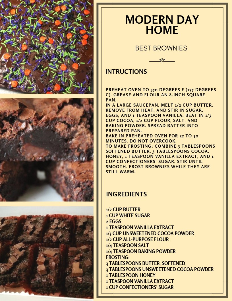 Best Brownie Recipe! https://t.co/fgMrg9p1XR
