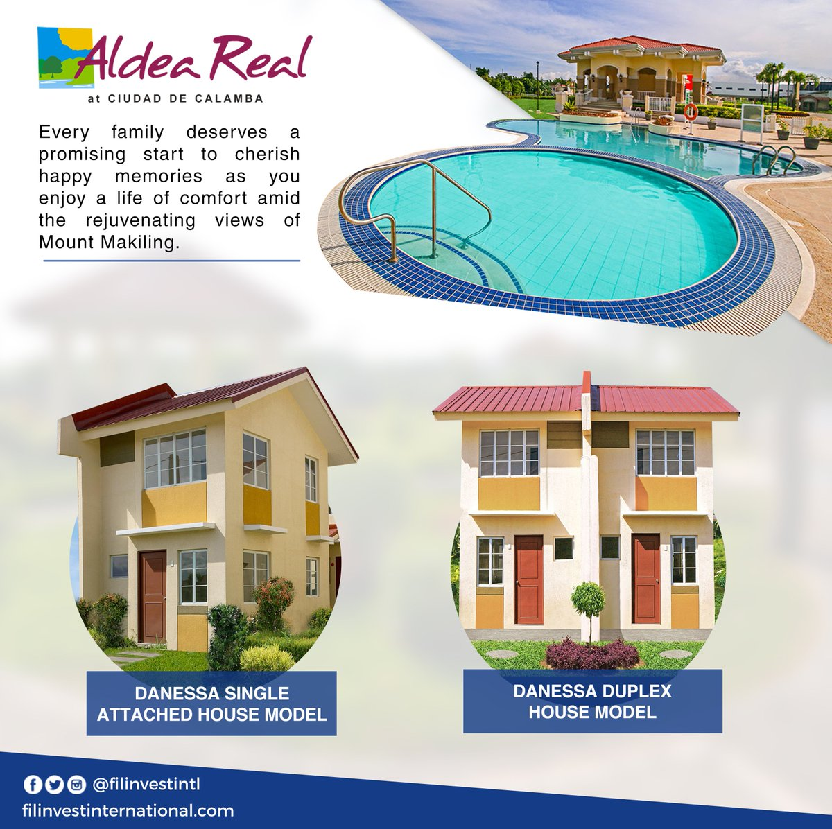 Hi kabayan!  Love the serene environment while you enjoy access to life's necessities at #AldeaReal  For inquiries on Aldea Real, you may send us a message.  #Filinvest #FilinvestInternational #OFW #Investment #RealEstate #Opportunity #RentalIncome https://t.co/FvELtv4dwz