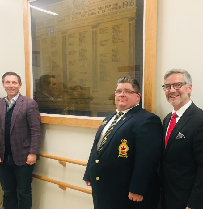 Tonight we unveiled a memorial honouring the brave Bramptonian veterans who dedicated their lives in service to our country. The plaques once hung in the old Peel Memorial Hospital and we are thrilled to have them up on our new walls for Remembrance Day #LestWeForget Photo