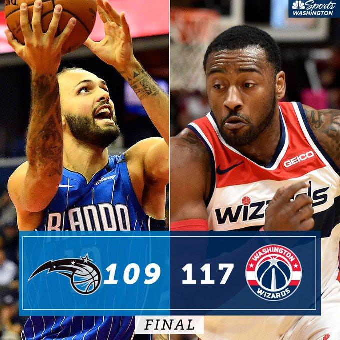 2 in a row 👏 John Wall 25 points, Bradley Beal 21 points, Jeff Green 18 points Photo