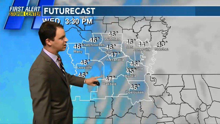 Kalb Weather Map.Kalb News Channel 5 On Twitter Barrett S Overnight Forecast