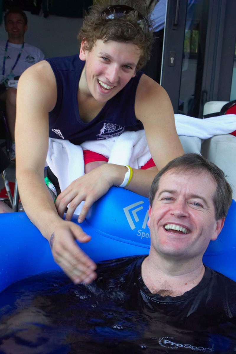 10 years ago at the Paralympics I dropped in to see our wheelchair basketball team, the Rollers. I walked past 17 year old gun @DylanAlcott taking an ice bath and, when I asked him if it was cold in there, he told me to try it for myself. So I hopped in, fully clothed.