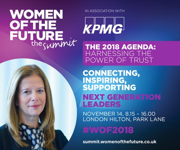 I am proud of the work @KPMG is doing to support the annual @womenoffuture summit this week, investing in the future women leaders of tomorrow. Keep an eye on @KPMG for live updates #futureisinclusive #WOF2018 <br>http://pic.twitter.com/4kDWN60syV