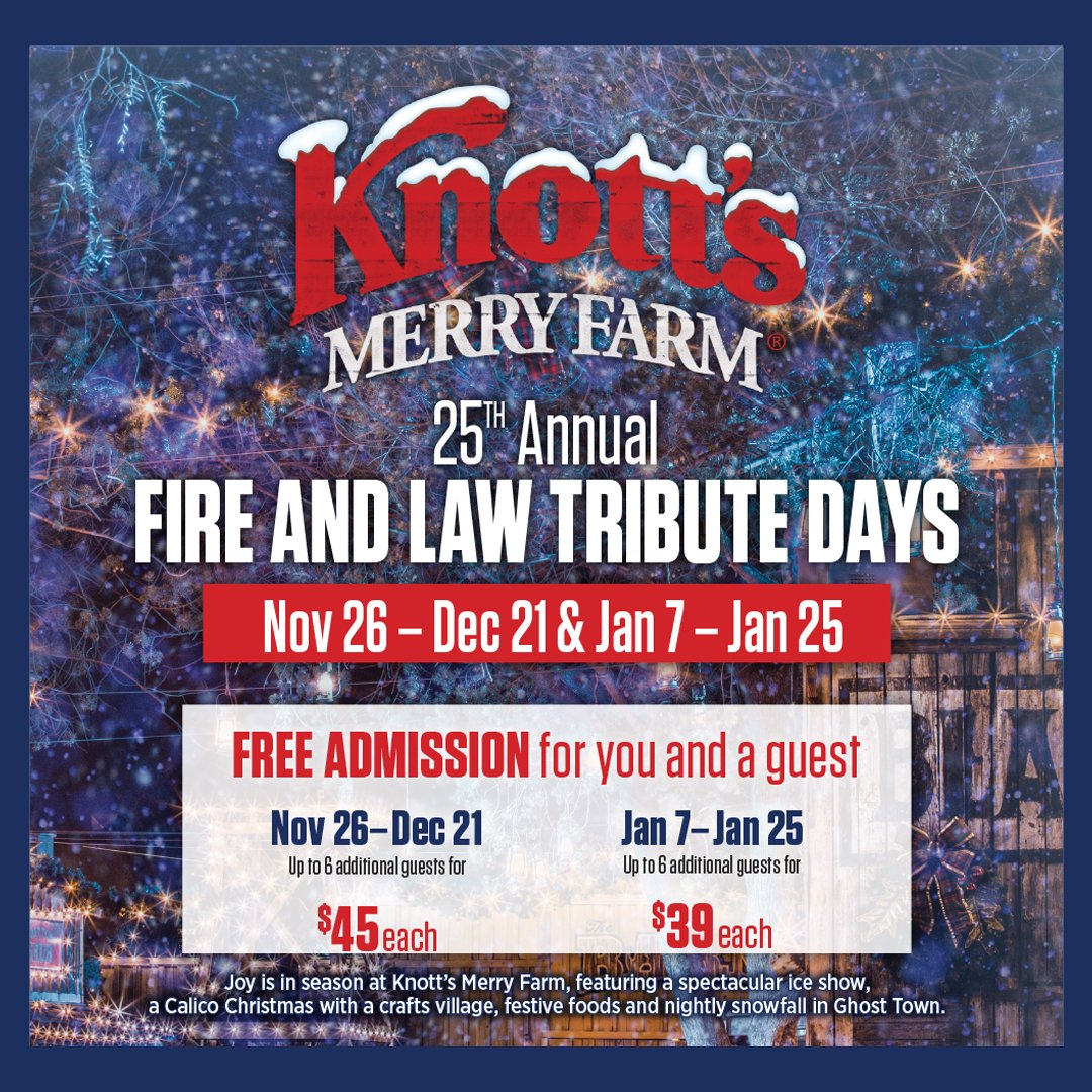 free admission to knotts berry farm for law enforcement