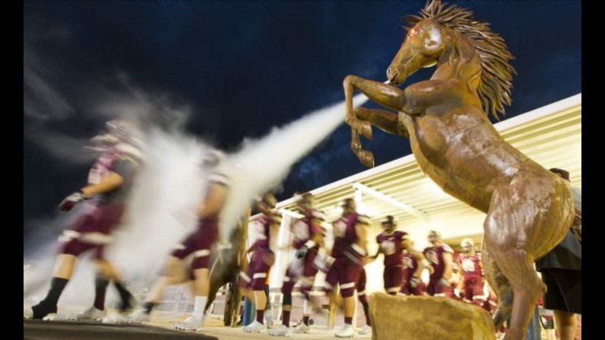 We will be hosting the Sherman Bearcats at The Ranch this Friday @7:30. Come out and support your Mustangs<br>http://pic.twitter.com/fGALZB0JmD