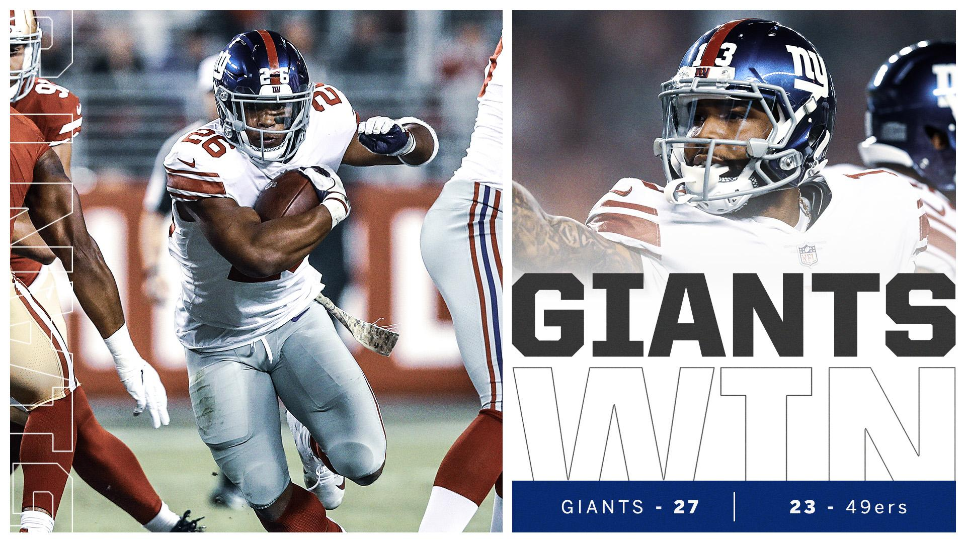 The New York Giants are back in the W column! https://t.co/Pj8gswhmpH