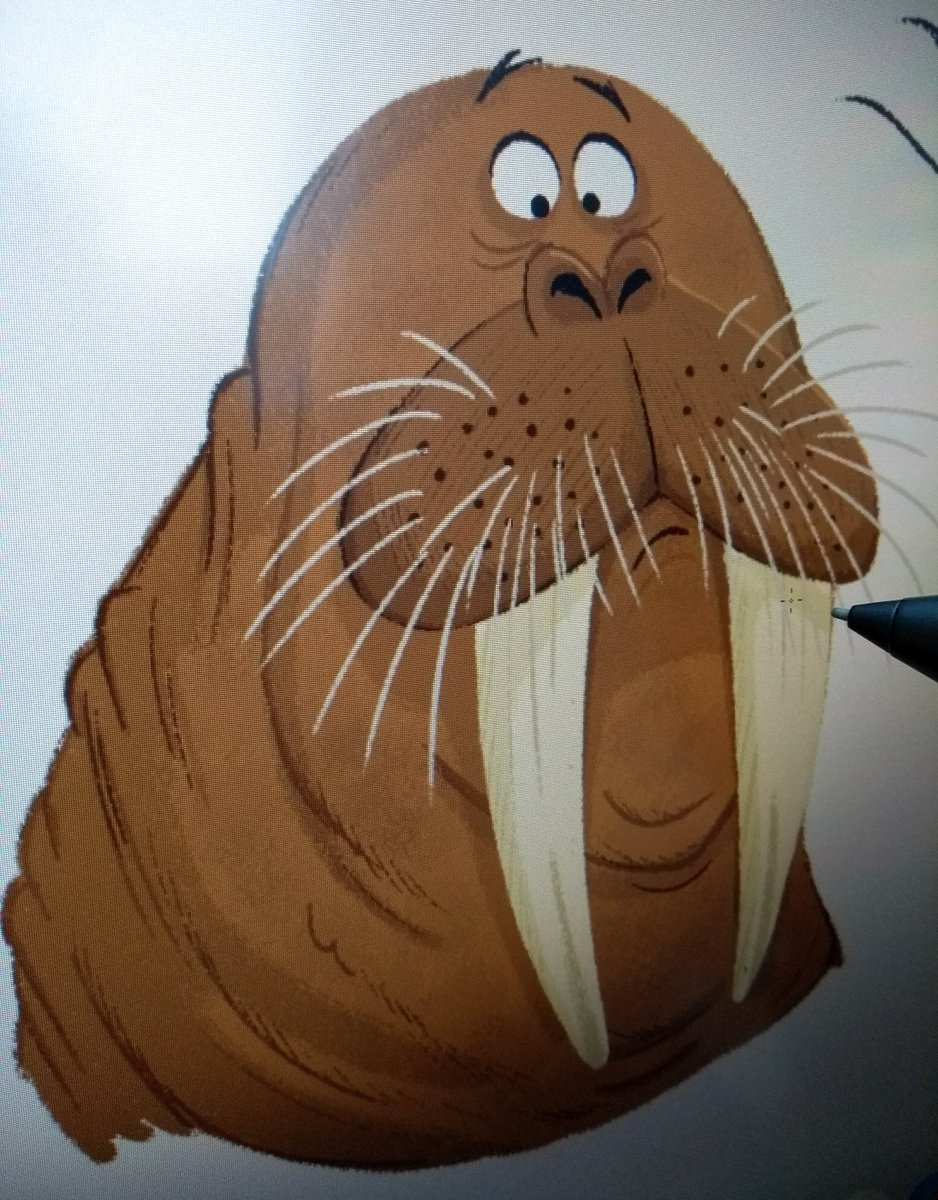 It&#39;s the mysterious &#39;deadline worry &#39; Walrus making an appearance this morning   #kidlitart <br>http://pic.twitter.com/yLHUmdxrek