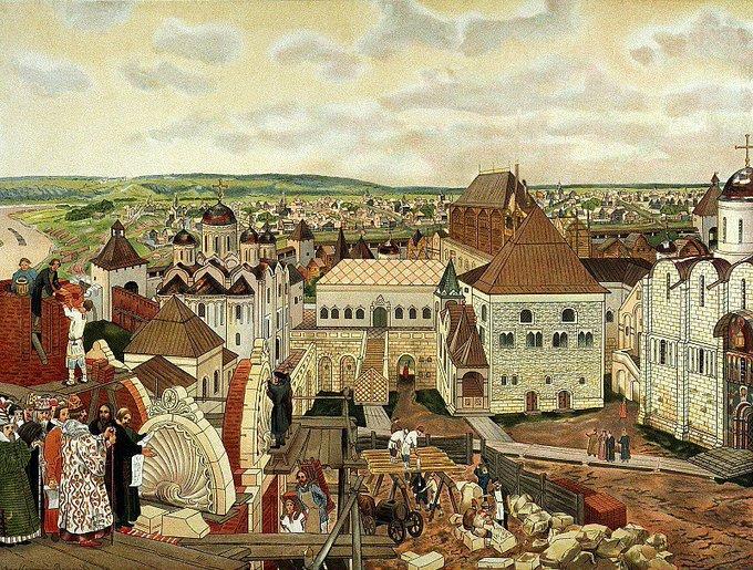 Аполлинарий Васнецов. «В Московском Кремле». 1890-е. Фото