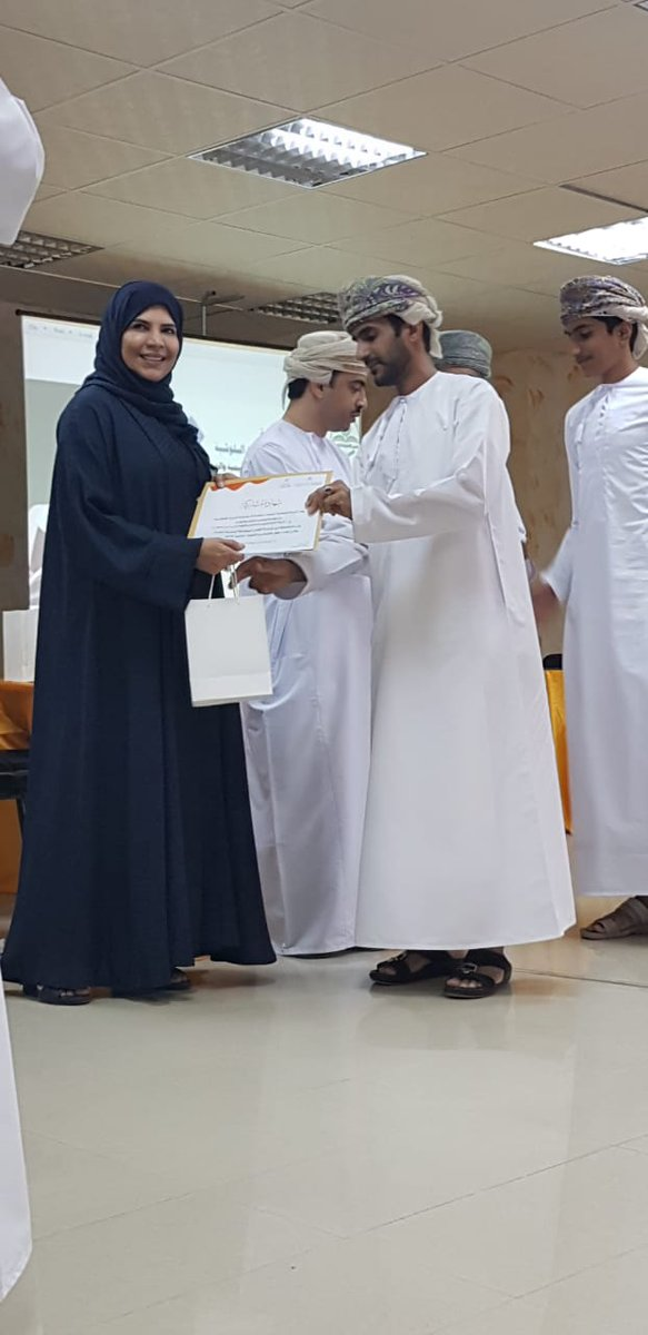 Honoring the teams participating in the National Competition for Reading in its second edition as Shiekh Nasser Al Kharusi School team got the First Place in the Second Phase of the competition.